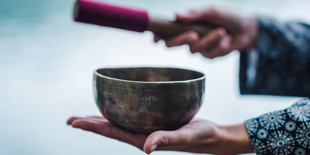 The Joyful Use Of Singing Bowls In Meditation Or Yoga Practice